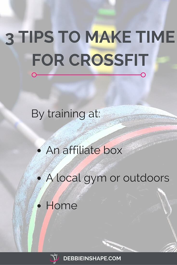Discover how to save time to do CrossFit depending on where you practice it.