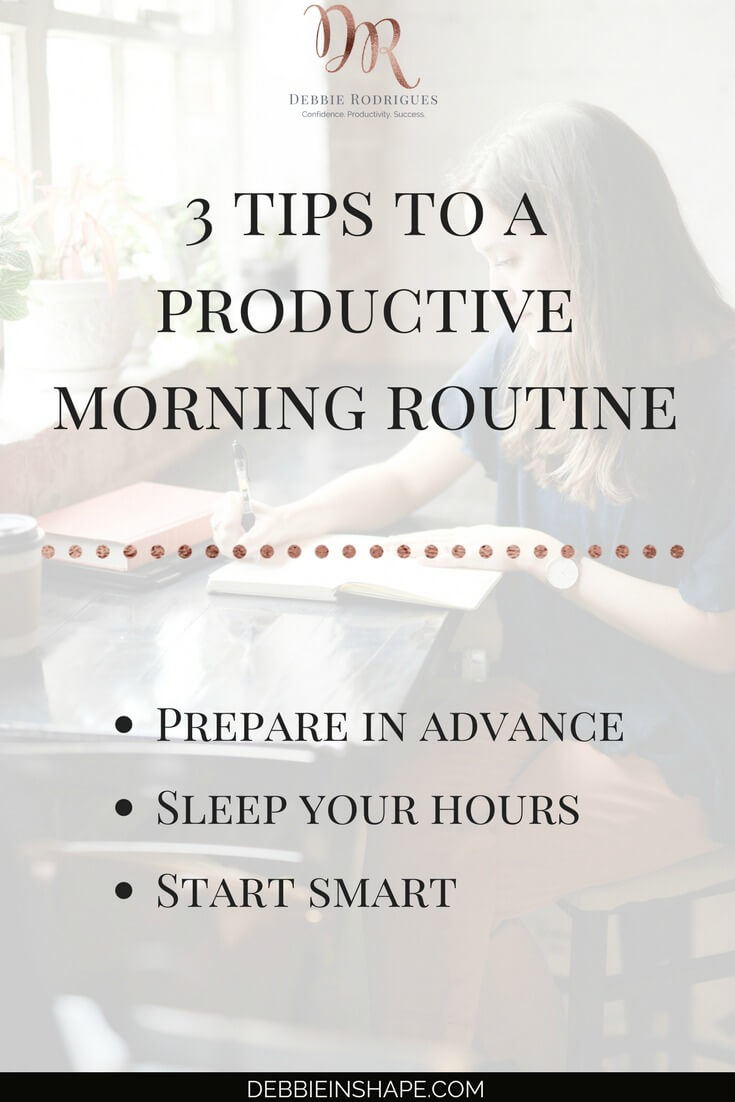 3 morning routine tips for you to seize the day. Learn how to create space in your schedule for the things that matter the most by starting the day the right way. Join my FREE VIP Tribe today and download my Morning Routine Checklist. Become a member of an awesome community for accountability, motivation, support, and exclusive content and offers. #productivity #confidence #success #health #lifestyle