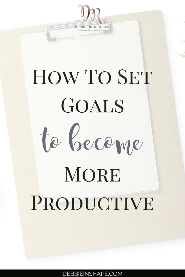 To become more productive, you need to set goals for yourself. Learn why you need them and how to get started in 4 steps. Join the 52-Week Challenge For A More Productive You today to receive all the support you need to overcome efficiency blocks one day at a time without stress. #productivity #confidence #success #goals #journaling