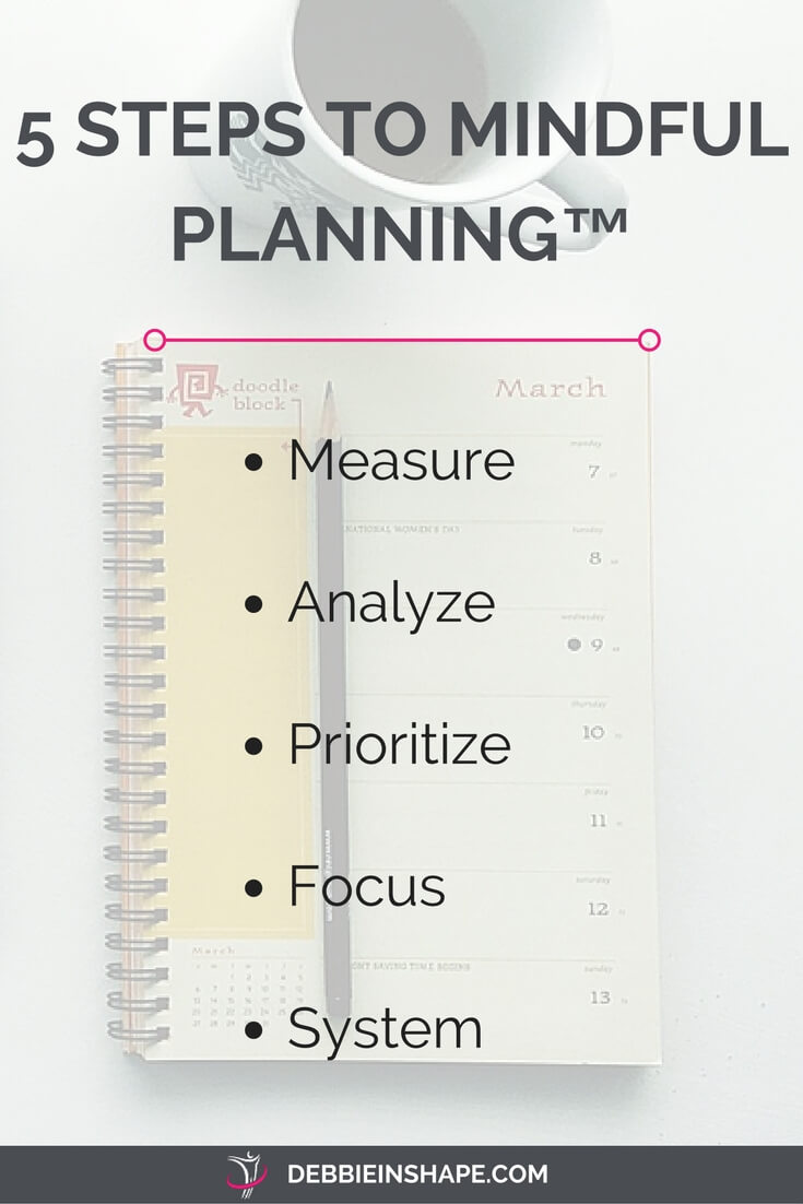 Implement the 5 Steps To Mindful Planning™ to become more productive one day at a time without stress.