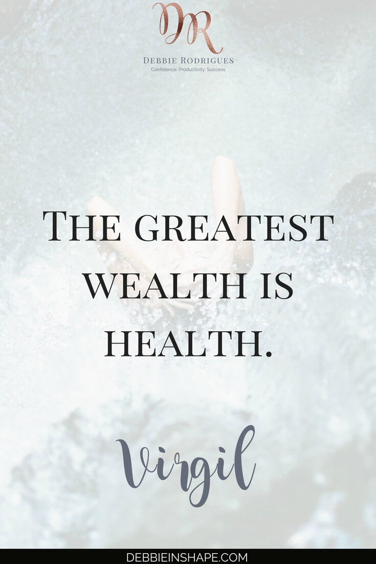 Your health is your greatest wealth. Learn how to take care of it in a realistic way you can stick. Join my FREE VIP Tribe for exclusive tips to help you create space in your schedule for the things you love. #productivity #confidence #success #lifestyle #health #quote
