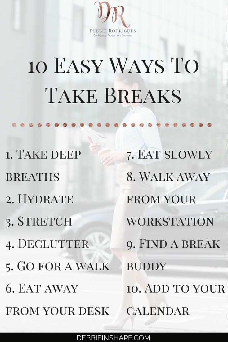 take a break sign in