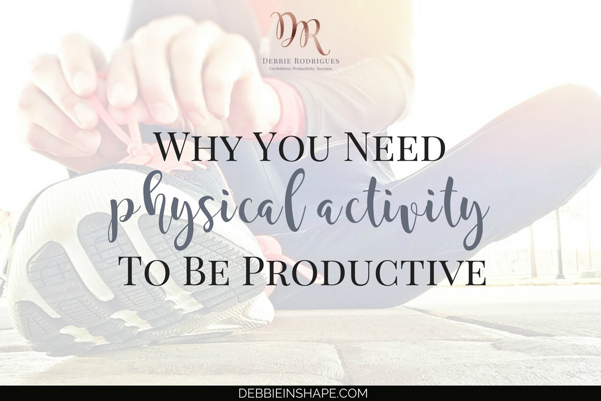 Discover the connection between physical activity and productivity and why you need it to get more done today. Learn how you can start to take advantage of your training for confidence, efficiency, and success. Looking for accountability? Join the 52-Week Challenge For A More Productive You today! #productivity #confidence #success #fitness #health