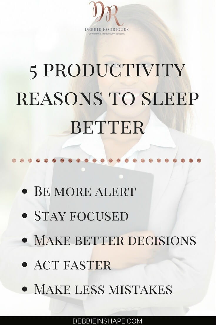 Learn how to become more efficient with sleep. Discover the benefits of getting your sleeping pattern back on track. Hint: it has to do with confidence, productivity and success. Join the 52-Week Challenge For A More Productive You and become a member of an awesome community of like-minded achievers for accountability, support, and motivation. #productivity #confidence #success #health #wellness