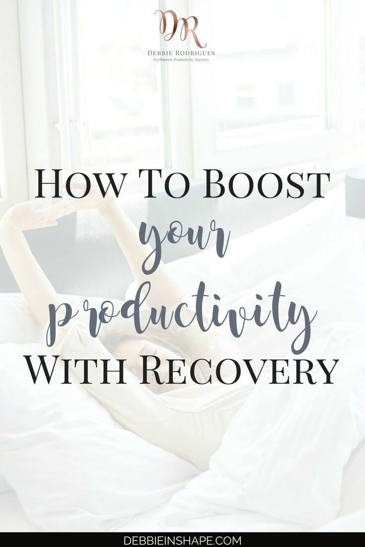 You can and should boost your productivity with recovery. This round-up has all the tips that you need to get more done without stress. Join the 52-Week Challenge For A More Productive You today and get all the support and guidance you need to be more successful without feeling overwhelmed all the time. #productivity #confidence #success #lifestyle #health
