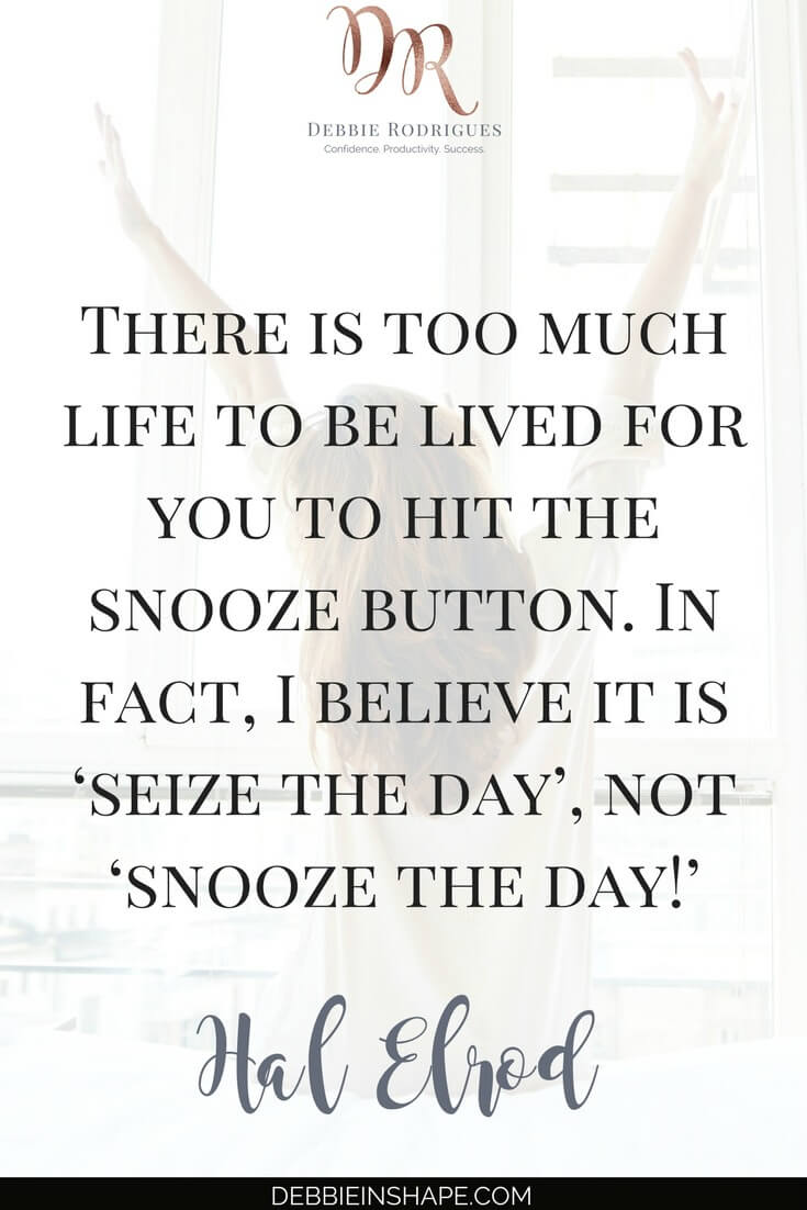 Stop hitting snooze and seize the day. Don't let yourself be tricked by the idea of taking an extra nap after the alarm clock goes off. To understand its side effects to your health and productivity, please, read the blog today. And don't forget to join the 52-Week Challenge For A More Productive You to discover other not-so-obvious efficiency killers. #quote #productivity #confidence #success #health #lifestyle
