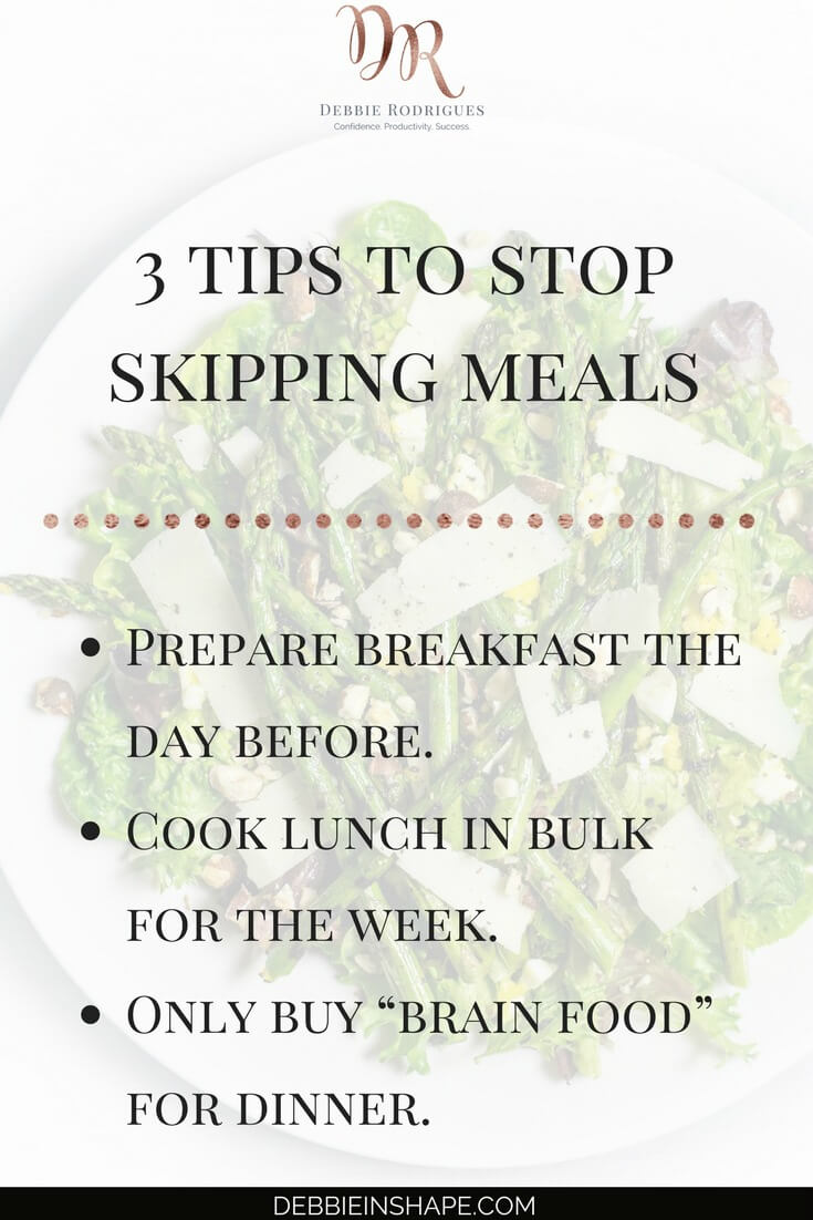 How to stop skipping meals to boost your lifestyle and efficiency. Find out how you can use nutrition to support your Journey to Success. Learn how you can create space in your schedule for self-care by joining the 52-Week Challenge For A More Productive You. #productivity #confidence #success #lifestyle #meals