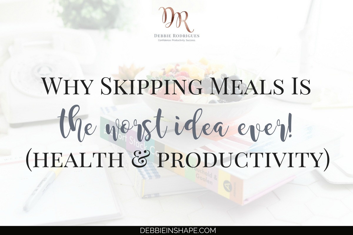 Skipping meals is the worst idea ever for your productivity and health. Find out why you must quit it right now. Learn how to create space in your schedule to take care of yourself and improve your lifestyle. Join the 52-Week Challenge For A Productive You today. #productivity #confidence #success #lifestyle #meals