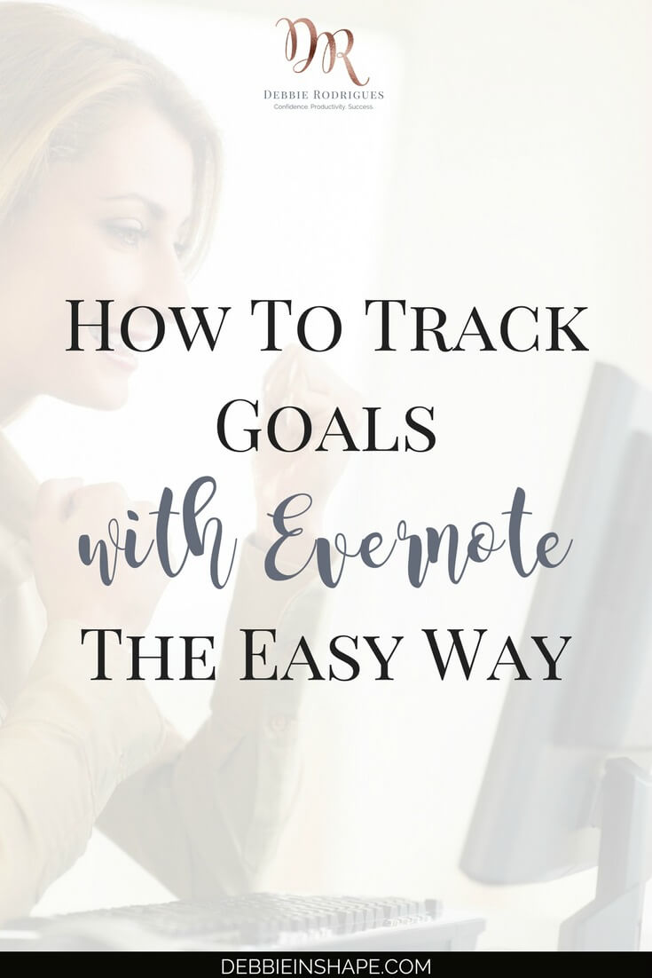 Don't lose sight of your objectives. Discover how you can track goals with Evernote to become more efficient. Join the 52-Week Challenge For A More Productive You and get all the support, motivation, and accountability you need to be successful. #productivity #confidence #success #goals #evernote
