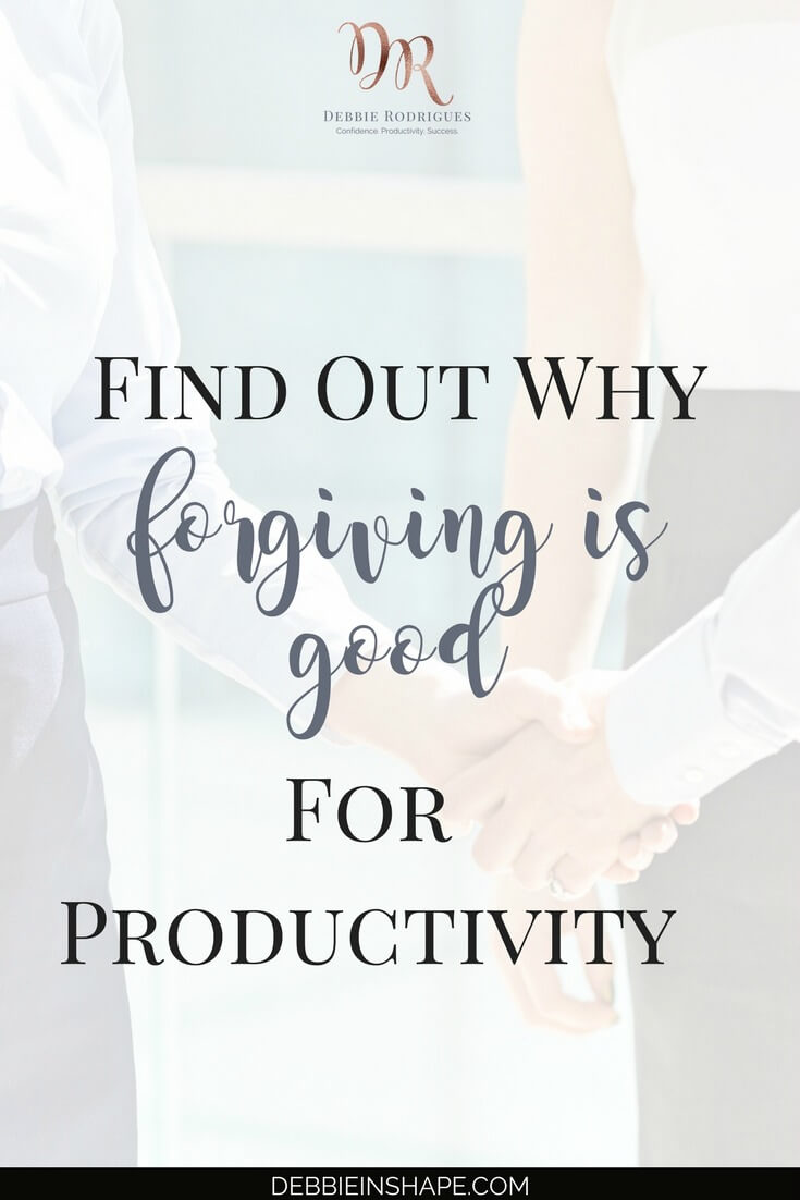 In case you didn't know it, forgiving is good for productivity. Learn why holding a grudge is in the way of your efficiency. Join the 52-Week Challenge For A More Productive You to learn how to become a better version of yourself one day at a time. #productivity #confidence #success #journaling #mentalhealth