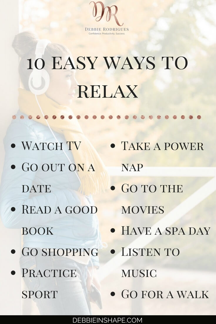 Be more efficient with these 10 easy ways to relax. Read everything about relaxation for productivity on the blog! Come to the 52-Week Challenge For A More Productive You and learn everything you need to be more successful. #productivity #confidence #success #journaling #relax