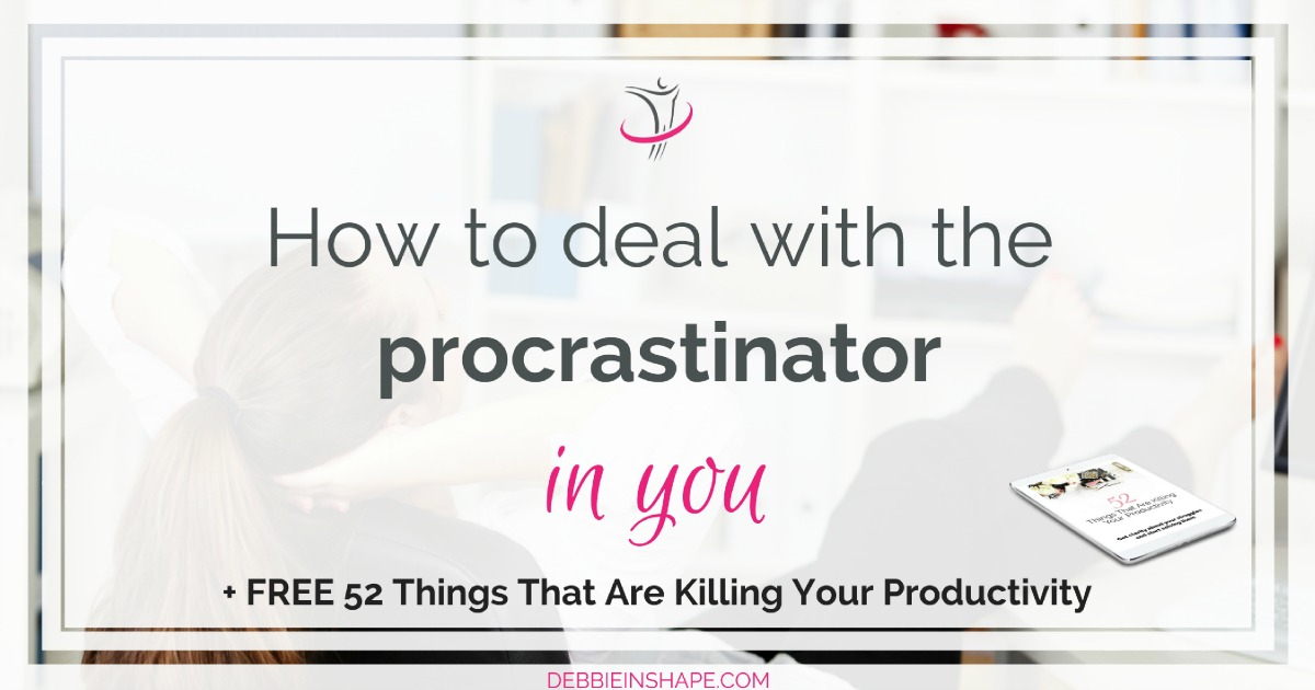 We all need to postpone things from time to time. Yet, when it goes too far, we must learn how to deal with the procrastinator within us. Discover the 5 reasons why people procrastinate and the 7 steps to overcome it on the blog. And if you're looking for accountability and support, join the 52-Week Challenge For A More Productive You FOR FREE today!