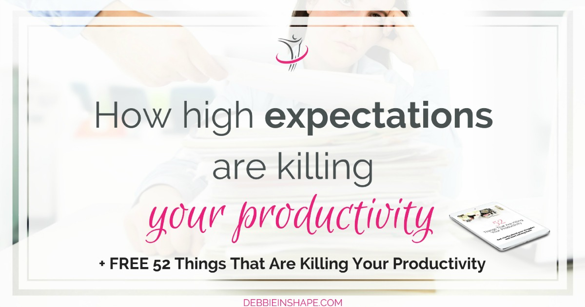 Have you already thought about the fact that high expectations are killing your productivity? Find out how to break free from it today on the blog. To stay on track, make sure you join the 52-Week Challenge For A More Productive You. There, you'll find all the support and accountability you need to be successful!