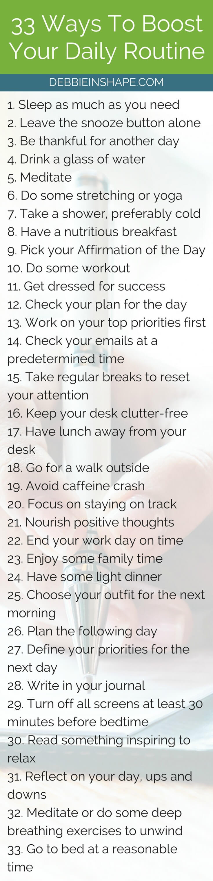 Boost your efficiency and success with these super simple tips. Because you can improve your productivity one day at a time without overwhelm. All you need is a strategy. Learn how to put each step into practice on the blog today. And for support and accountability, join the 52-Week Challenge For A More Productive You FOR FREE.