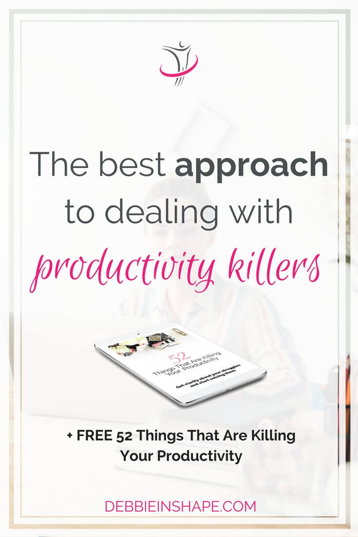 What's for you the best approach to dealing with productivity killers? I got some tips that will help you find it out. Not being able to drop one distraction doesn't mean you can't control it. Learn how you can do more without feeling overwhelmed by joining the 52-Week Challenge For A More Productive You. Become part of a Tribe of like-minded achievers for inspiration, accountability, and support.
