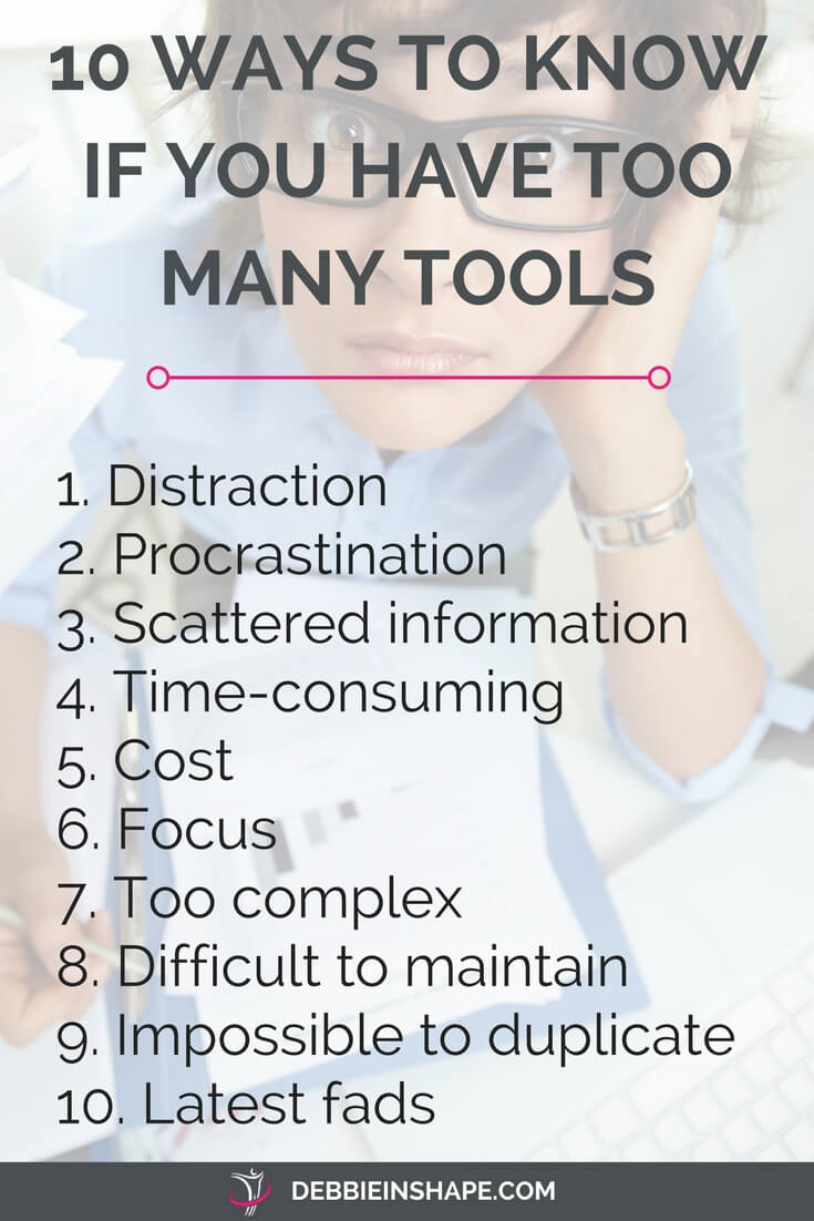 How to know whether you have productivity tools in excess. Because you can accomplish much more without stress and save yourself a lot of time by keeping your planning simple. For more tips, exclusive content, support, accountability, and motivation, join my FREE VIP Tribe today.