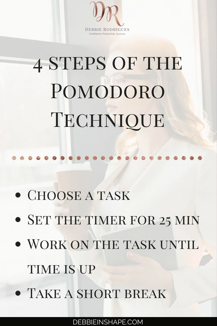 Discover how to use the Pomodoro Technique to boost your success. Incorporate breaks in your day the easy way to boost your health and productivity. Discover how you can overcome efficiency killers by joining the 52-Week Challenge For A More Productive You. Access daily prompts with videos, exclusive content and group coaching all in one place for accountability, support, and success. #productivity #confidence #success #lifestyle #health
