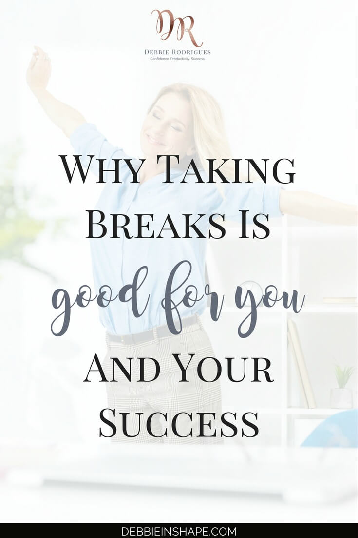 Discover why taking breaks is good for you. Understand how your health and productivity can benefit from regular pauses. And if you want to stay on track with your goals and overcome other efficiency killers, come over to the 52-Week Challenge For A More Productive You. #productivity #confidence #success #lifestyle #health