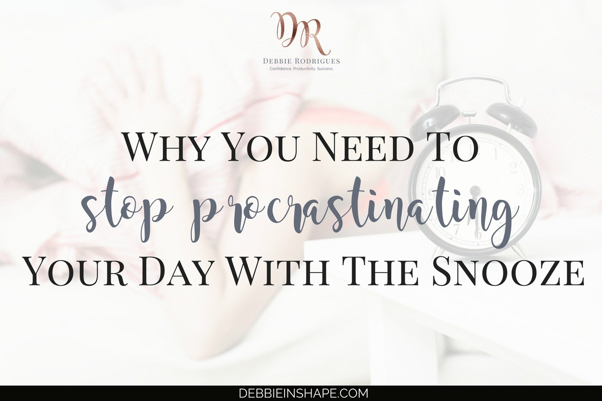 Why You Need To Stop Procrastinating Your Day With The Snooze3 min read
