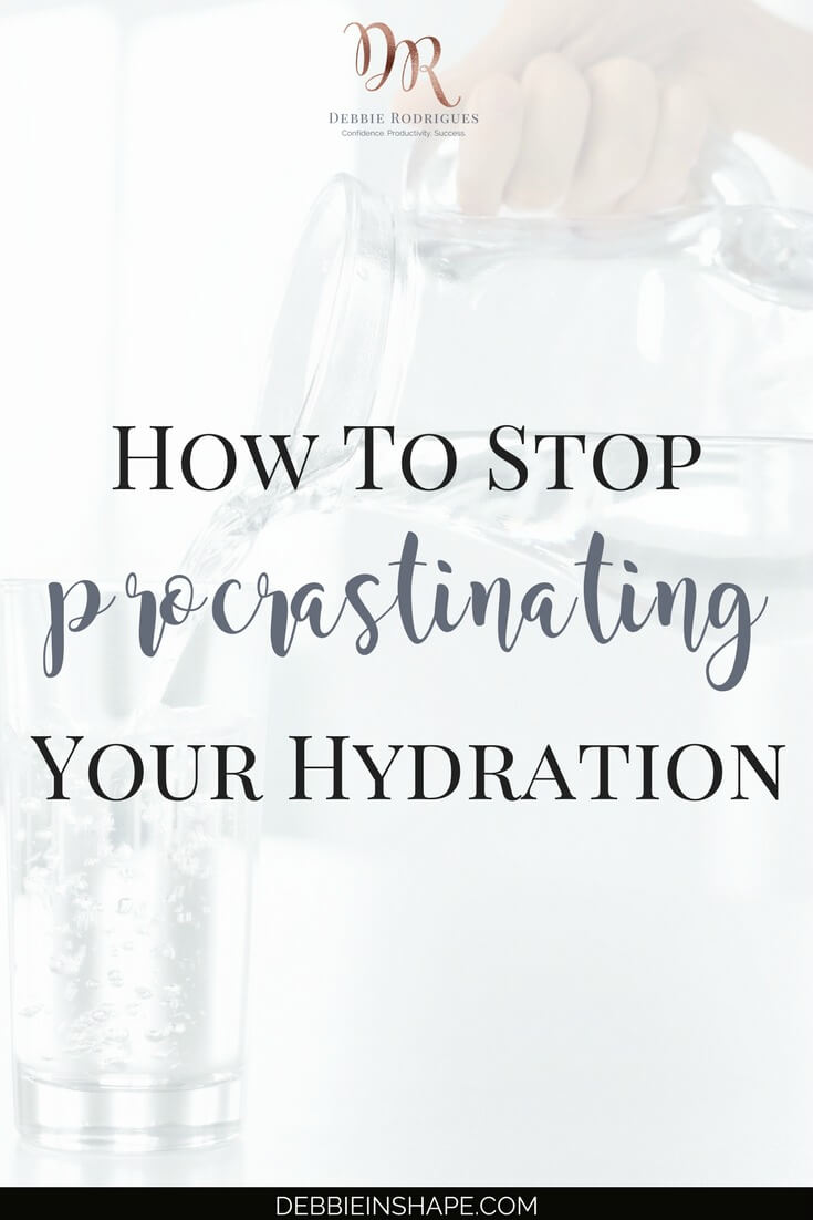 You're procrastinating your hydration when you postpone replenishing the fluids in your body. Learn how to improve your water intake with easy tips. For extra support and accountability, come on over to the 52-Week Challenge For A More Productive You. Learn how to apply Mindful Planning to boost your lifestyle and achieve your Goals. #productivity #confidence #success #health #lifestyle