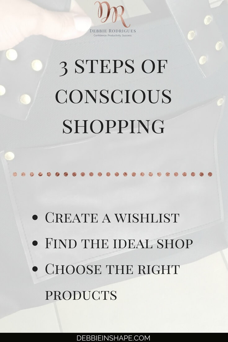 How to shop mindfully the easy way. Discover how you can free time and money to invest in the things that really matter to you. Join the 52-Week Challenge For A More Productive You and get all the support, motivation, and accountability you need to be successful. #productivity #confidence #success #minimalism @nomadostore