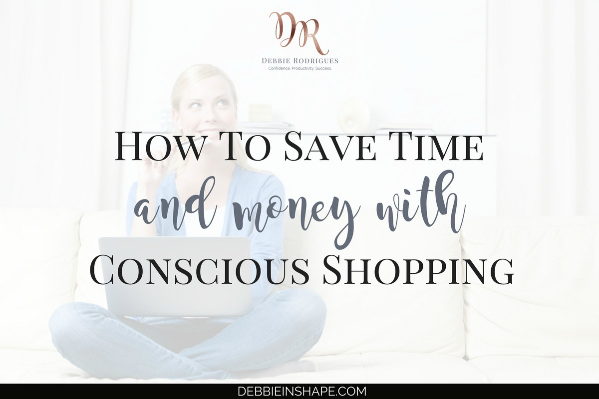 In times when we talk about being more with less, let's have a look at how conscious shopping can also help us become more efficient. Join the 52-Week Challenge For A More Productive You and learn how to save time and money, one day at a time, with Mindful Planning. #productivity #confidence #success #minimalism
